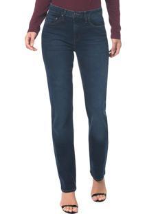 Calça Jeans Five Pocktes Mid Rise Straig Ckj 031 Mid Rise Straight - Marinho - 34