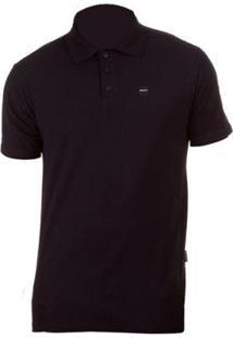 Camisa Polo Oakley Patch 2.0 Blackout - Masculino-Preto