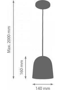 Pendente Alumínio Cúpula 16Cmx14Cm Milan 1801 Volare Dourado