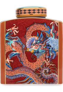 Shanghai Tang Jarra Com Estampa De Dragão - Vermelho