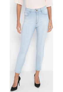 Jeans Super High Ankle Délavé- Azul Claro- Lança Perlança Perfume