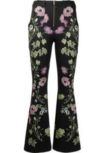 Cynthia Rowley Calça Hunter Com Estampa Floral - Preto