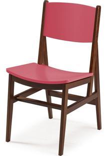 Cadeira Dumon Cacau E Rosa