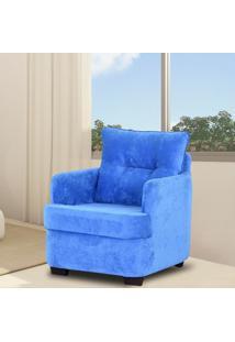 Poltrona Decorativa Fixa Brenda Mamãe Matrix Azul