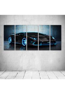 Quadro Decorativo - Unique Lamborghini - Composto De 5 Quadros