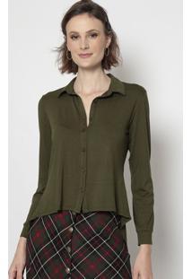 Blusa Lisa - Verde - Linho Finolinho Fino