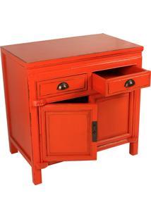 Gabinete De Madeira Orange Com 2 Gavetas E 2 Portas