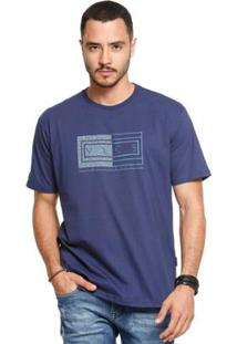 Camiseta Manga Curta Vlcs 18506 Masculina - Masculino-Azul