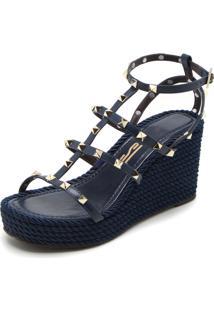 Sandália Santa Lolla Spikes Azul-Marinho