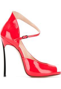 Casadei Sandália Color Block - Vermelho
