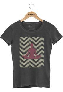 Camiseta Forseti Estonada Meditação Chumbo