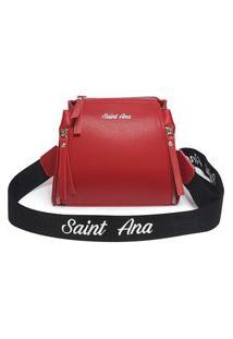 Bolsa Saint Ana Feminina Transversal Pequena Casual Vermelho