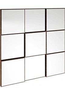 Painel Decorativo Espelhado 75Cmx75Cmtb86 Dalla Costa Nobre