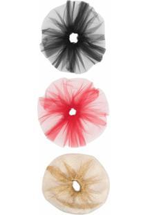 Atu Body Couture Scrunchie Com Tule - Vermelho