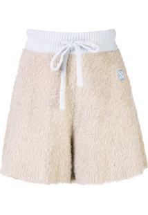 Off-White Shorts De Tricô Com Patch De Logo - Neutro