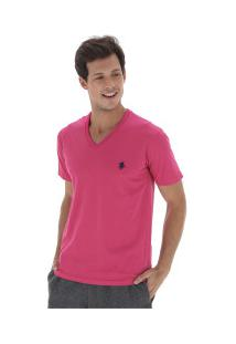 Camiseta Polo Us 706Tsgvb - Masculina - Rosa/Azul Esc