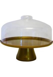 Boleira Cake Com Cúpula 32 Cm Dourado Coza