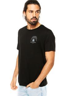 Camiseta Colcci Tag Leão Preta