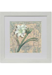 Quadro Floral Vii Kapos Branco 23X23Cm