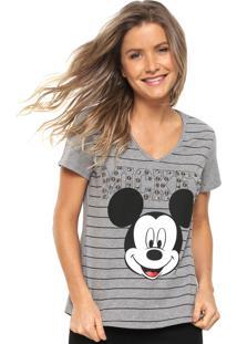 Camiseta Cativa Disney Bordada Cinza