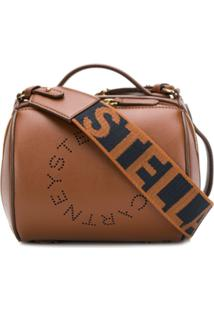 Stella Mccartney Stella Logo Barrel Shoulder Bag - Marrom