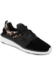 ... Tênis Dc Shoes Heathrow Feminino - Feminino-Preto 0756f76a46047