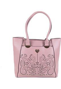 Bolsa Chenson Tote Shopper Coração Feminina - Feminino-Rosê