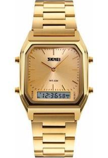 Relógio Skmei Anadigi 1220 - Feminino-Dourado
