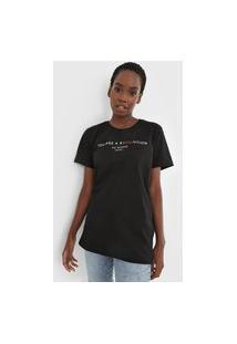 Camiseta Colcci You Are Revolution Preta