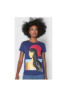 Camiseta Lez A Lez Artística Azul-Marinho