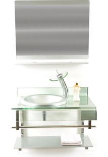 Gabinete De Vidro 70Cm Para Banheiro Turquia-Prata Ekasa