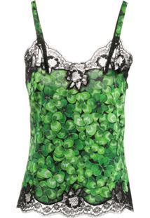 Dolce & Gabbana Blusa Com Estampa De Trevos - Verde
