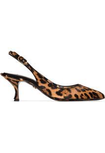 Dolce & Gabbana Sapato Animal Print - Marrom
