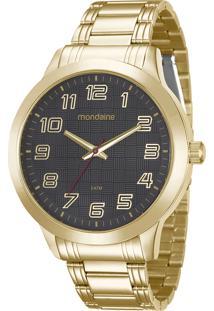 Kit De Relógio Analógico Mondaine Masculino + Carteira - 99143Gpmvde4K Dourado - Único