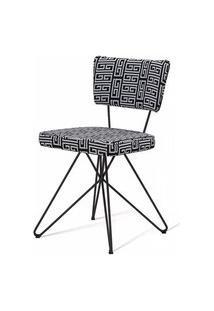 Cadeira Pop Retro Estampa Maze Base Estrela Preta - 49598 Preto