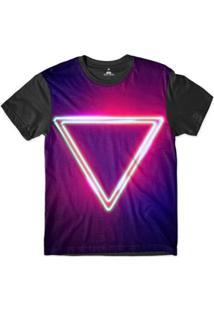 Camiseta Skill Head Orgulho Lgbt Triangulo Sublimada Masculina - Masculino-Roxo