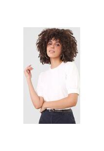 Camiseta Vero Moda Mangas Bufantes Off-White