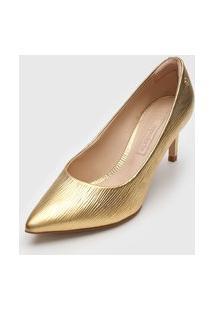 Scarpin Capodarte Metalizado Dourado