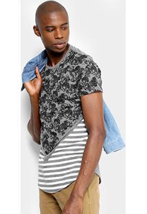 Camiseta Overcore Caveiras Listras Masculina - Masculino