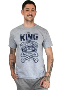 Camiseta Bleed American King Is Dead Cinza Mescla