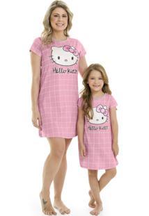 Camisola Mãe E Filha Hello Kitty Rosa