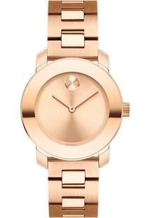 6ad469a4207 Vivara. Relógio Aço Feminino 3600435 - Rosé Movado