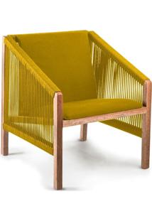 Poltrona De Corda Laã§Ada Amarela - Incolor - Dafiti