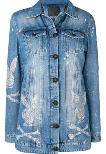 Philipp Plein Jaqueta Jeans 'Playboy' - Azul