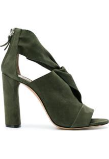 Casadei Ankle Boot De Couro Com Recortes - Verde