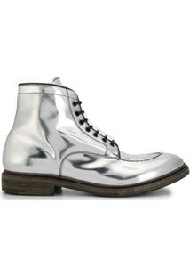 Premiata Ankle Boot Metálico - Prateado
