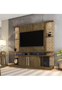 Estante Home Móveis Bechara York Led Tv 60 Pol Madeira Rústica 3D