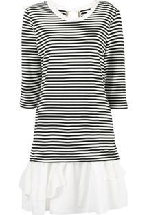 Boutique Moschino Vestido Listrado - Branco