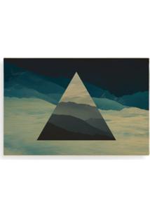 Quadro Wood Art Print Landscape Triangle Colorido