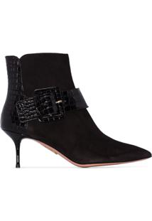Aquazzura Ankle Boot Com Fivela Bailey - Preto